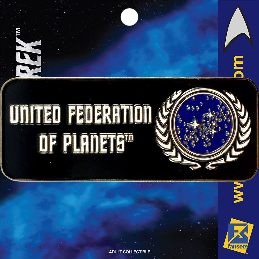 Star Trek Series UNITED FEDERATION OF PLANETS Licensed FanSets Logo Collector's Pin