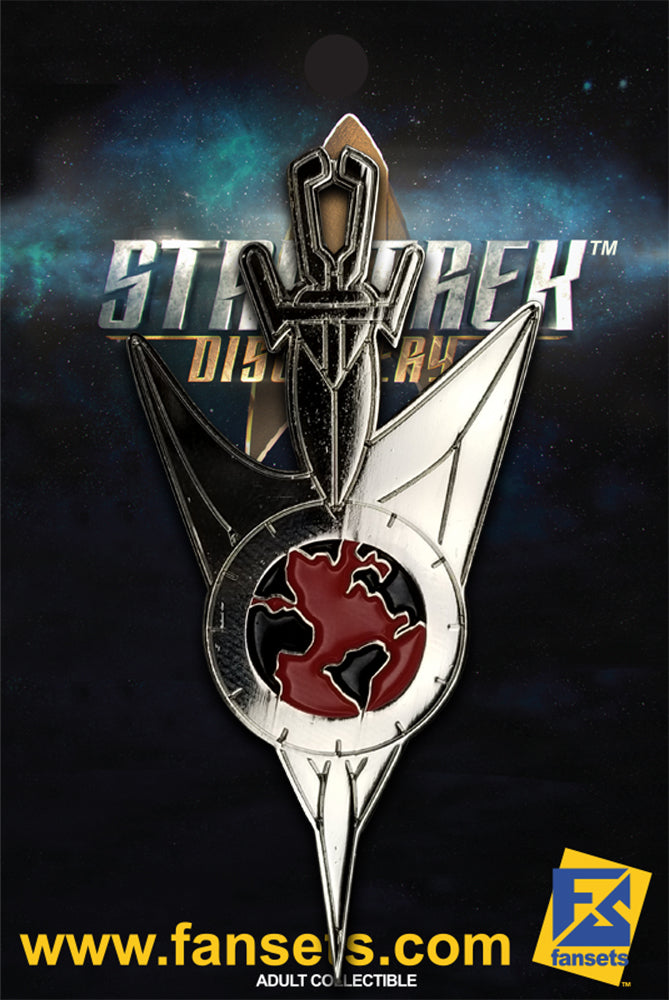 Star Trek Discovery Mirror Universe Science SILVER badge Licensed FanSets Pin