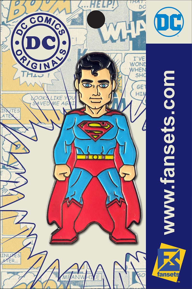 DC Comics Classic SUPERMAN Licensed FanSets Pin MicroJustice