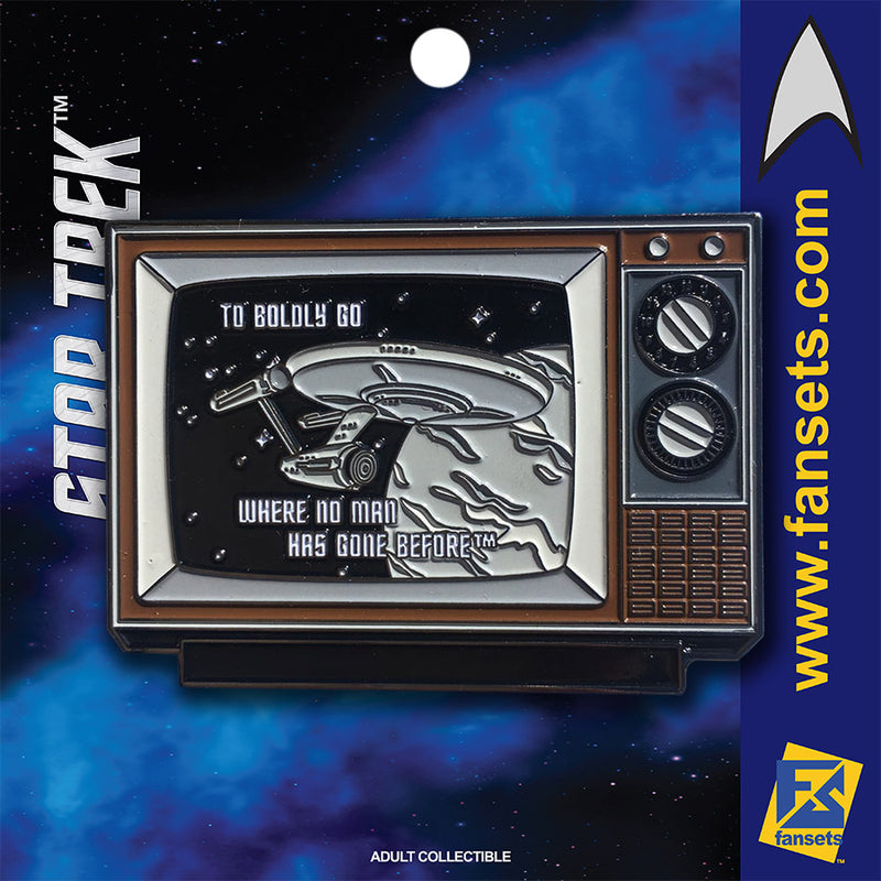 Star TreK TO BOLDLY GO STLV BLACK & WHITE Licensed FanSets MicroCrew Collector's Pin