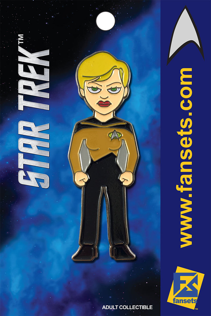 Star Trek Tasha YAR Licensed FanSets MicroCrew Collector's Pin