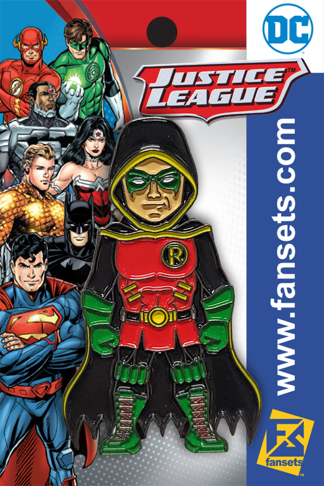 DC Comics New 52 DAMIAN WAYNE Robin Licensed FanSets Pin MicroJustice