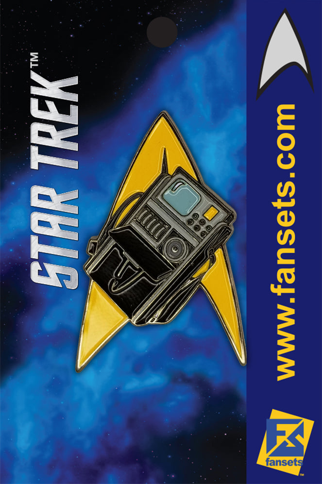 Star Trek DELTA TRICORDER TREKTECH™ Licensed FanSets MicroCrew Collector's Pin