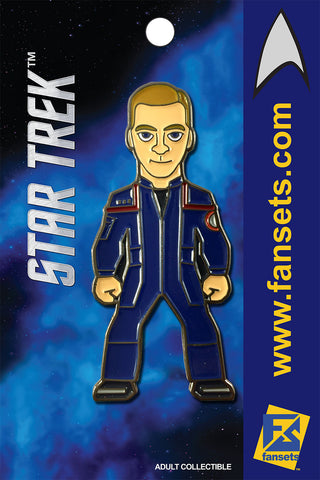 Star Trek Charles TRIP Tucker Licensed FanSets MicroCrew Collector's Pin
