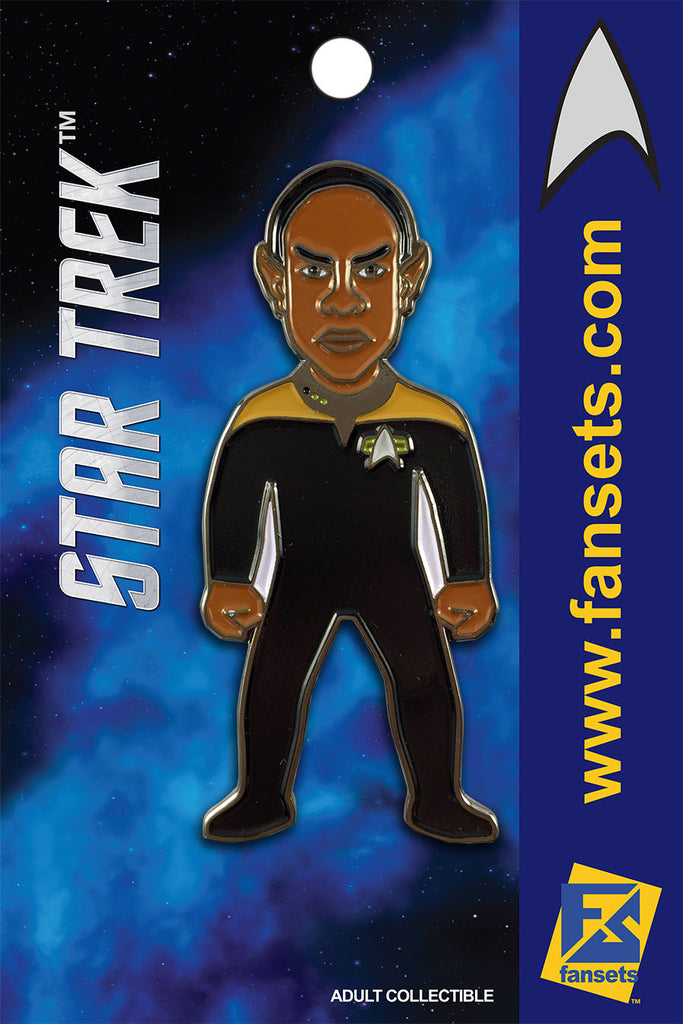 Star Trek Mr. TUVOK Licensed FanSets MicroCrew Collector's Pin