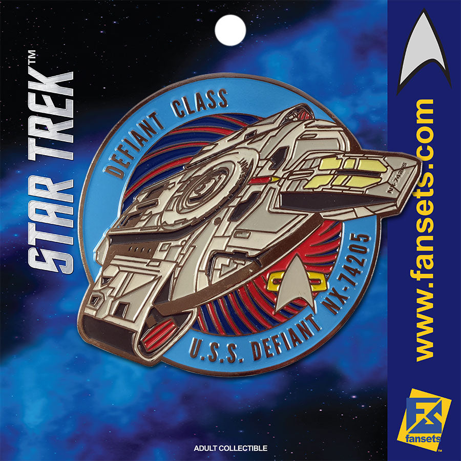 Star Trek MicroFleet DEFIANT - NX-74205 Licensed FanSets Collector's Pin