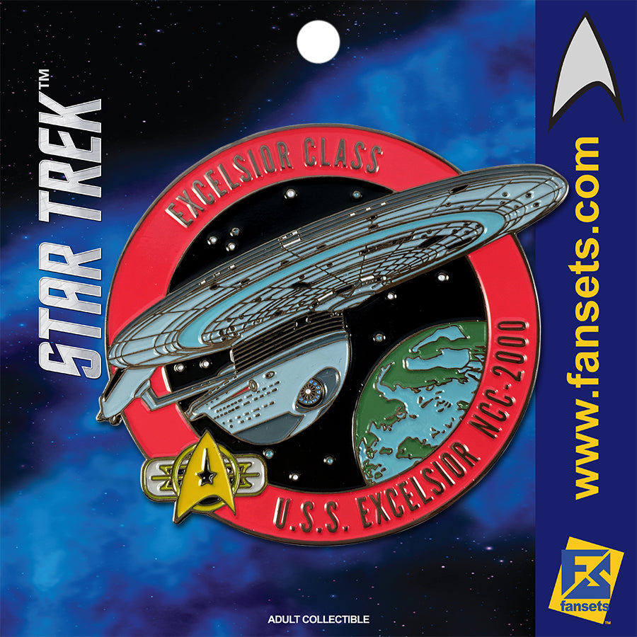 Star Trek MicroFleet EXCELSIOR Licensed FanSets Collector's Pin