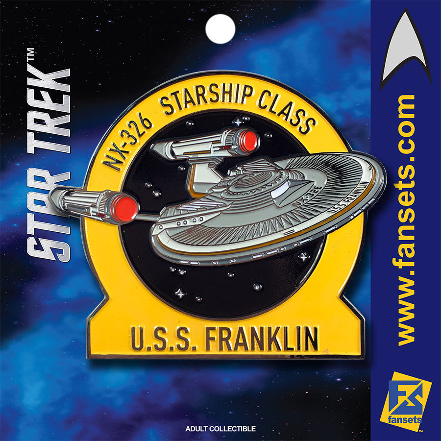 Star Trek MicroFleet U.S.S. FRANKLIN Licensed FanSets Collector's Pin