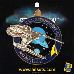 Star Trek Discovery U.S.S. SHENZHOU Licensed FanSets MicroFleet Collector's Pin`