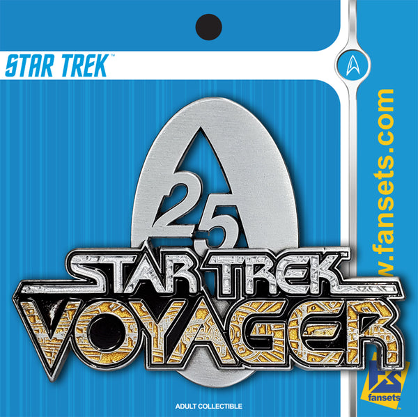 Star Trek Voyager 25th ANNIVERSARY Licensed FanSets Pin