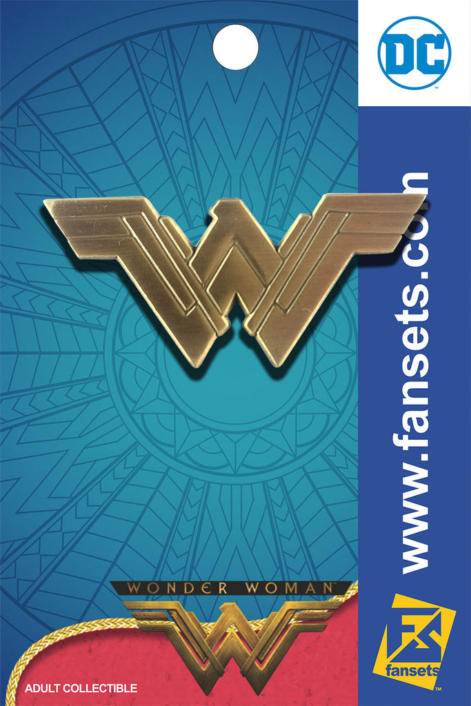 DC Comics WONDER WOMAN MOVIE LOGO Licensed FanSets Pin MicroJustice