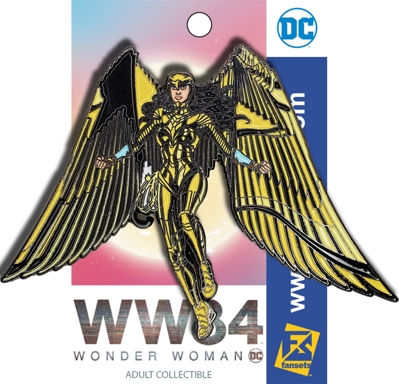 DC Comics WONDER WOMAN 84 GOLD EAGLE Armor Licensed FanSets Pin MicroJustice