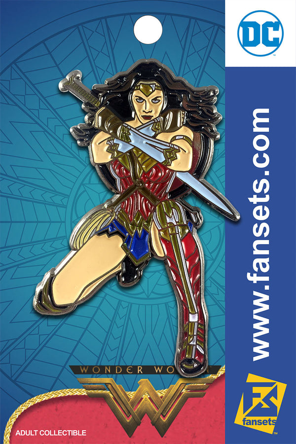 DC Comics WONDER WOMAN KNEELING Licensed FanSets Pin MicroJustice