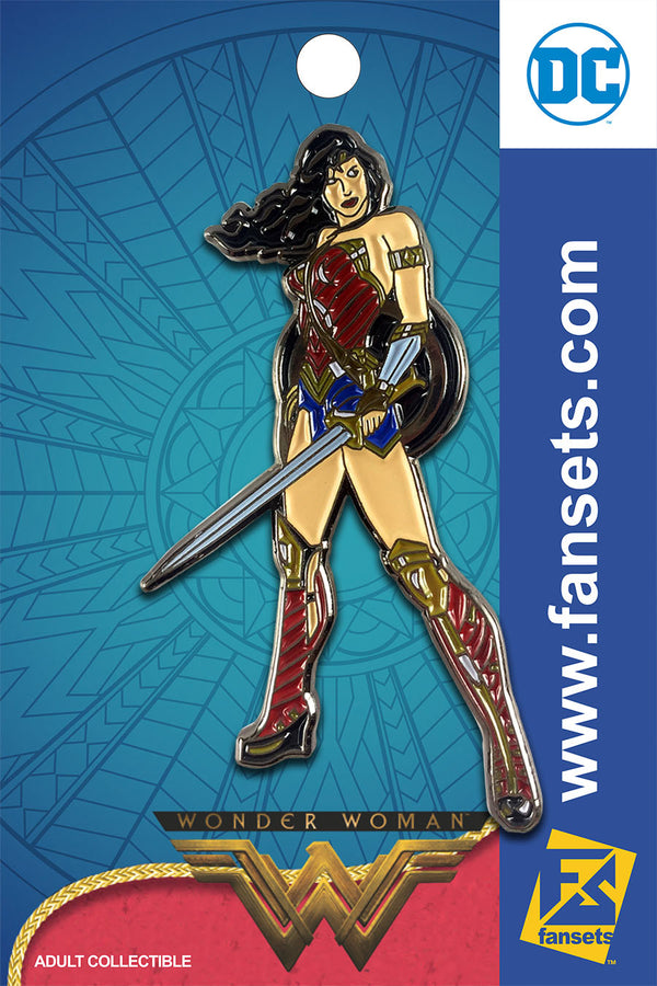 DC Comics WONDER WOMAN STANCE with Sword Licensed FanSets Pin MicroJustice