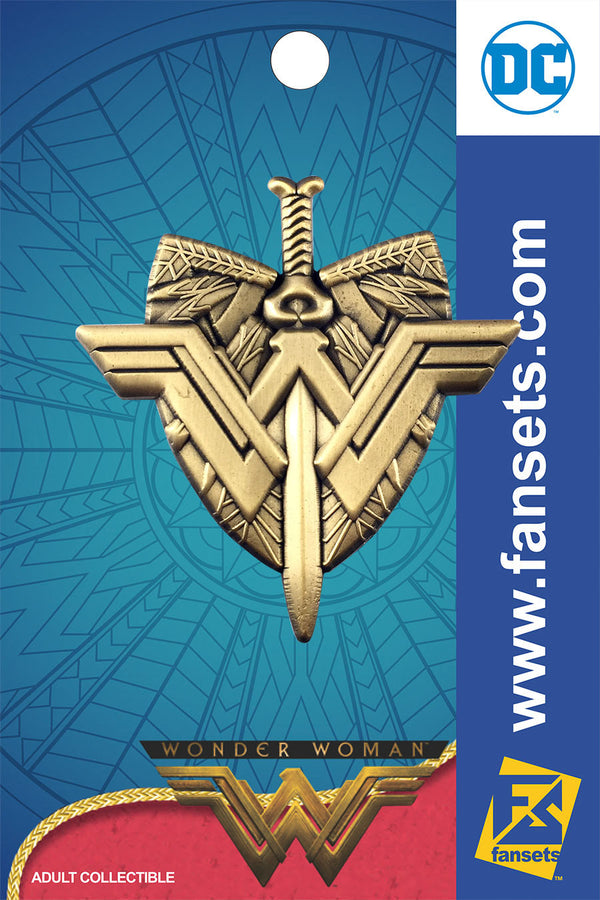 DC Comics Wonder Woman Movie Logo Crest with Sword Licensed FanSets Pin