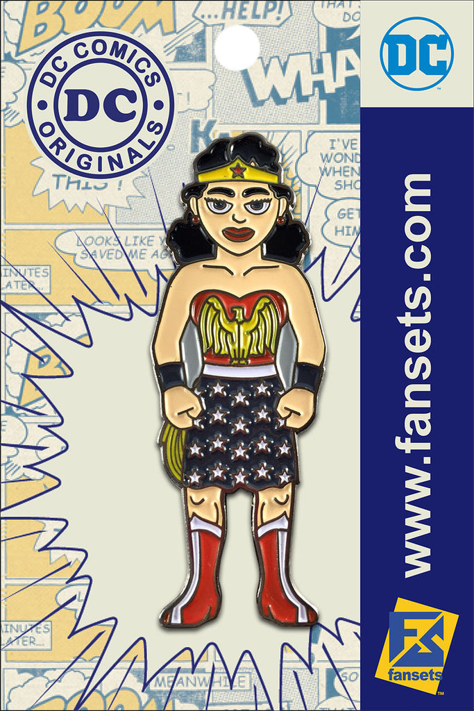 DC Comics Classic WONDER WOMAN 1st APPEARANCE Licensed FanSets Pin MicroJustice
