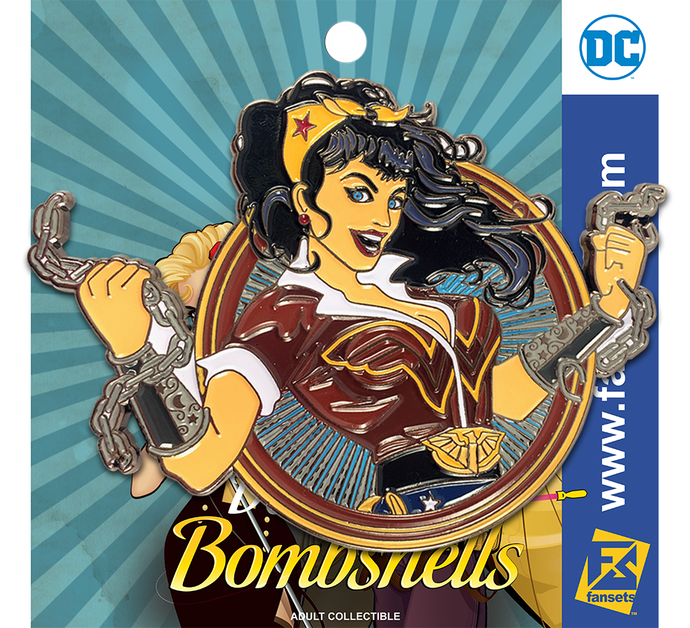 DC Comics DC Bombshells Badge WONDER WOMAN Licensed FanSets Pin MicroChracters