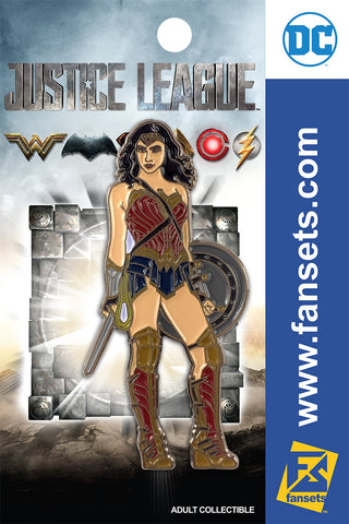 DC Comics Justice League MOVIE WONDER WOMAN STYLE GUIDE Licensed FanSets Pin MicroJustice
