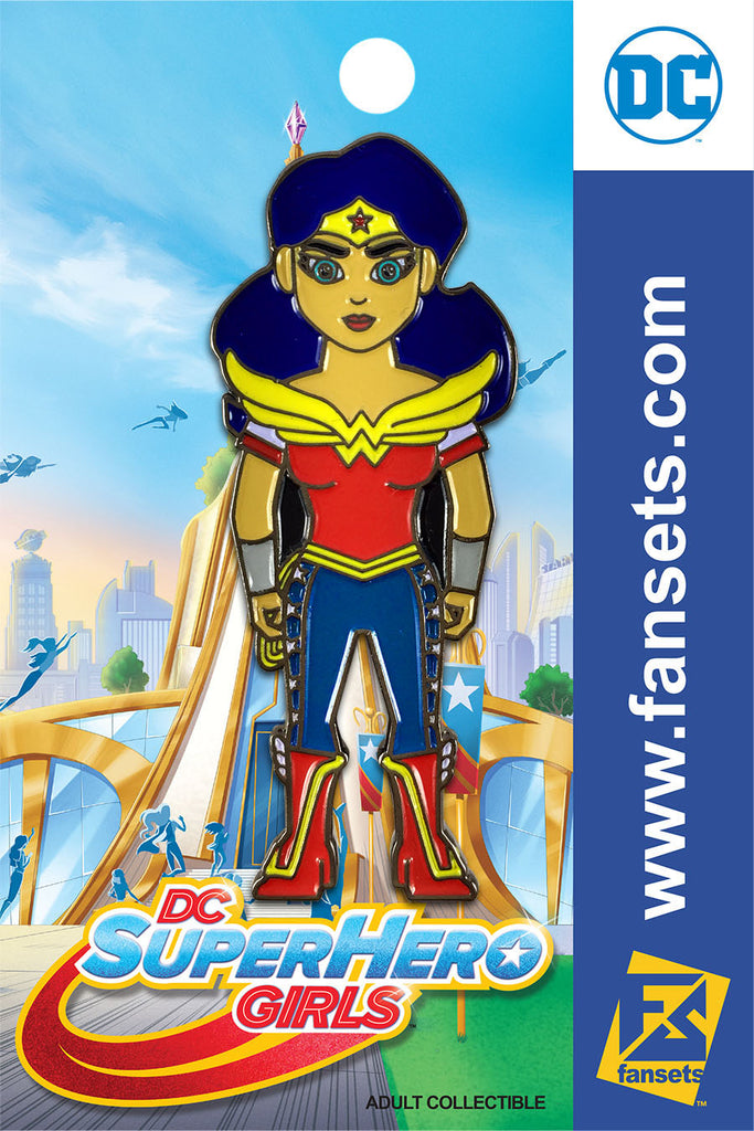 DC Comics SuperHero Girls WONDER WOMAN Licensed FanSets Pin MicroChracters