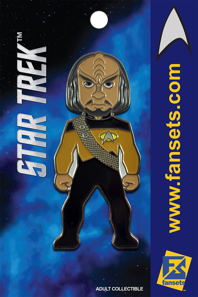 Star Trek Mr. WORF Licensed FanSets MicroCrew Collector's Pin