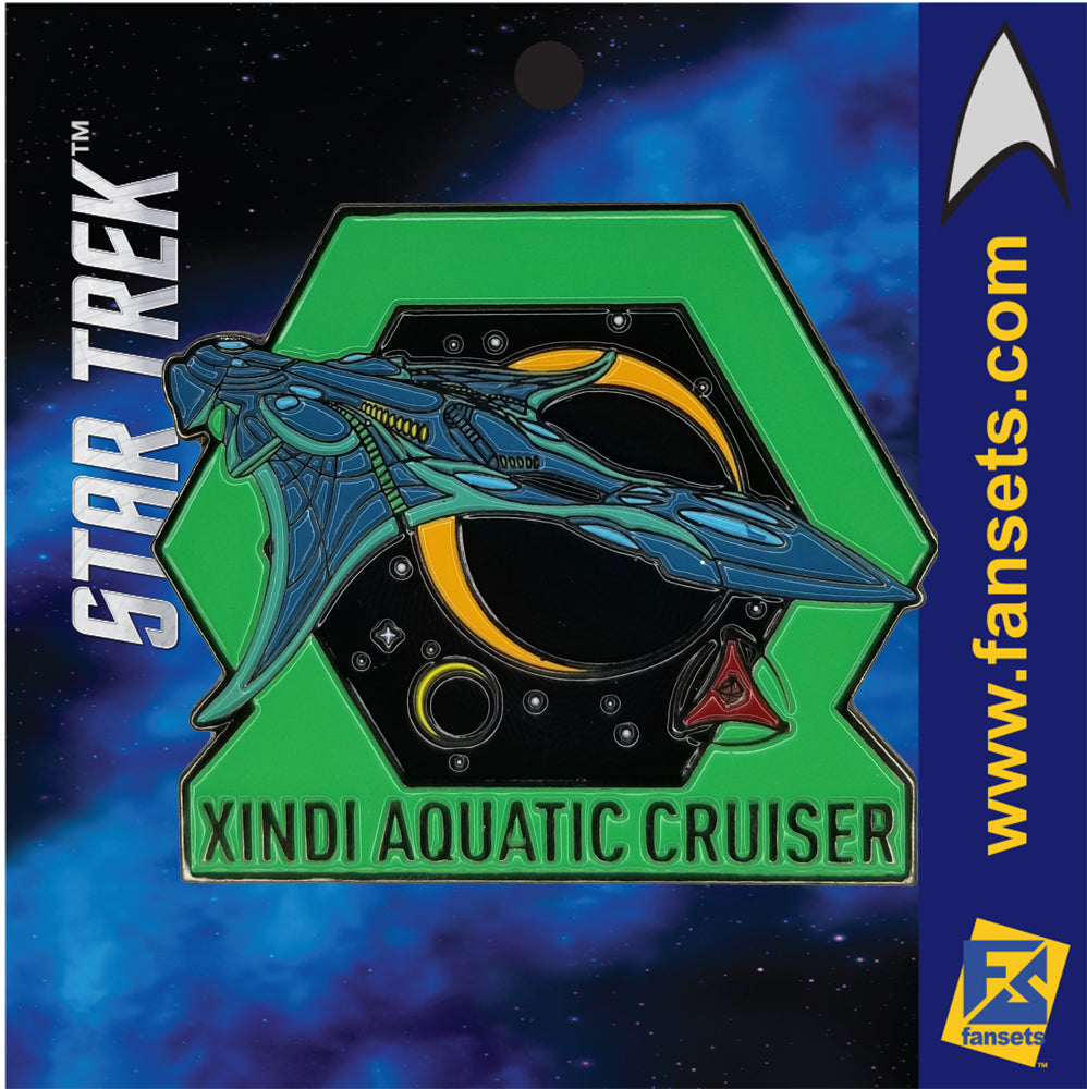 Star Trek MicroFleet XINDI AQUATIC CRUISER Licensed FanSets Collector's Pin