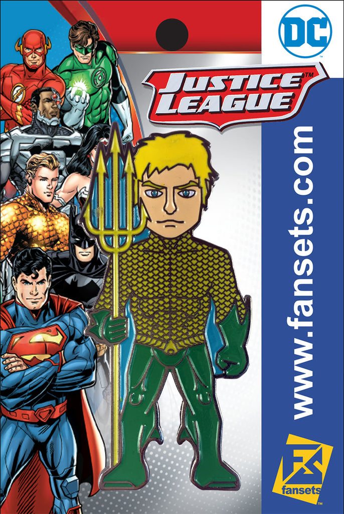 DC Comics Justice League AQUAMAN (New 52)  Licensed FanSets Pin MicroJustice