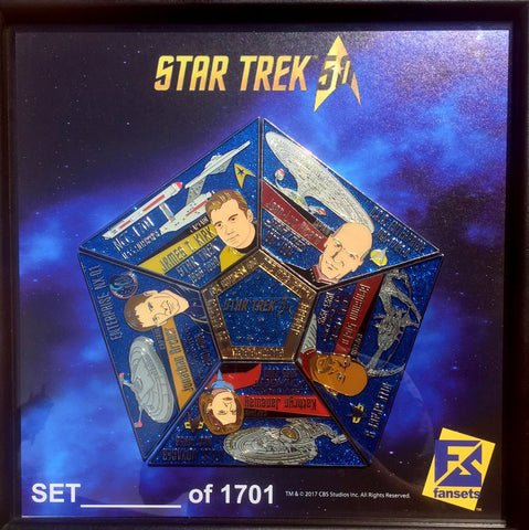 Star Trek 50th Anniversary  Captain's Pin Set - DOMESTIC ORDERS