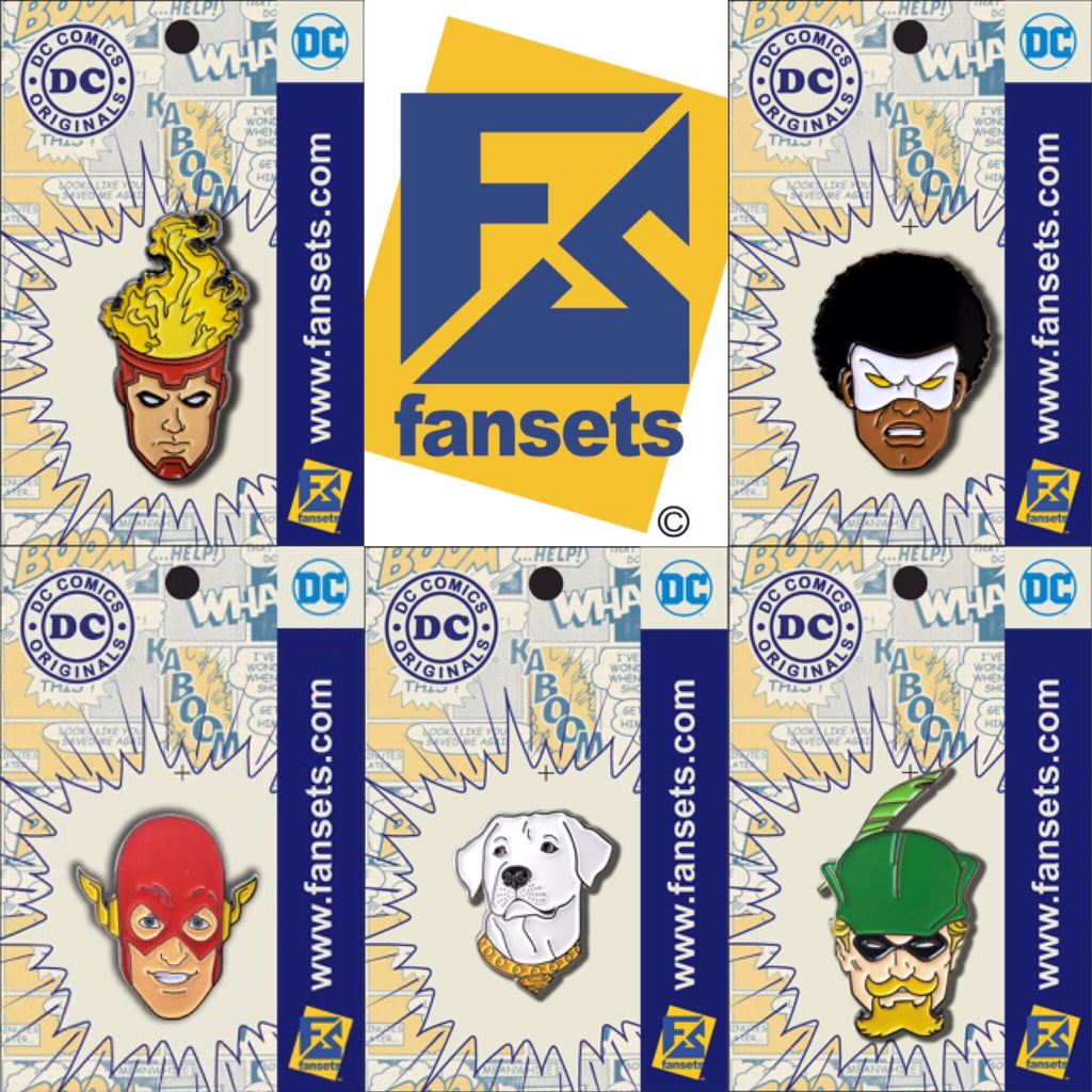 DC Comics San Diego Comic Con SDCC 2018 Pins FanSets EXCLUSIVES