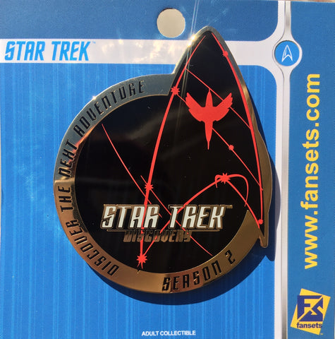 Star Trek Discovery SEASON 2 LOGO Pin Licensed FanSets MicroFleet Collector's Pin`