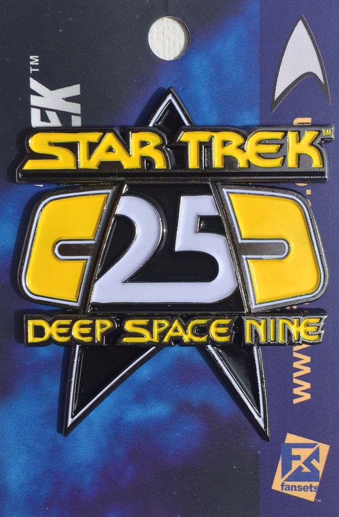 Star Trek DEEP SPACE NINE 25th ANNIVERSARY PIN Licensed FanSets MicroCrew Collector's Pin