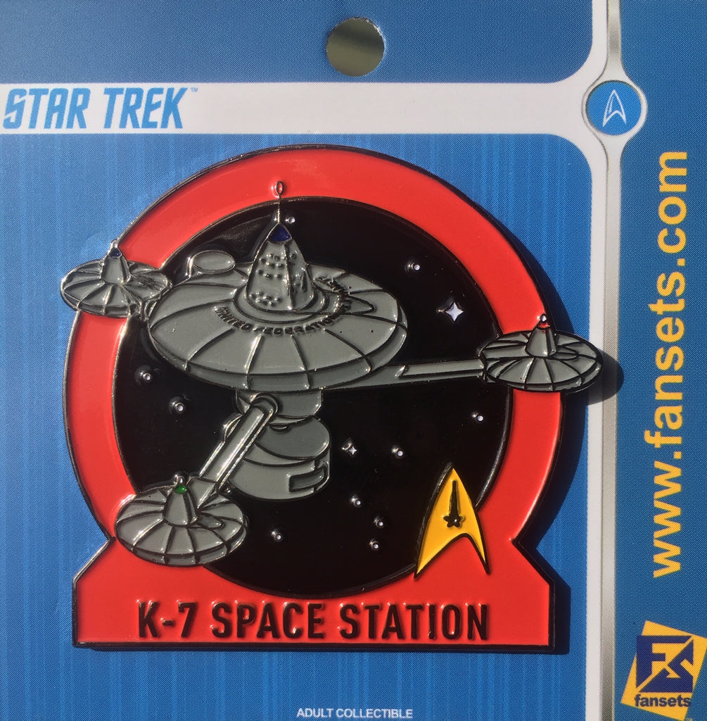Star Trek MicroFleet SPACE STATION K-7 Licensed FanSets Collector's Pin