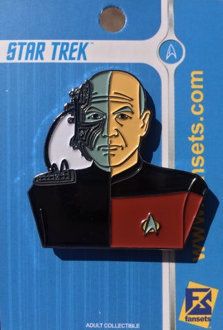Star Trek PICARD/LOCUTUS Pin Licensed FanSets Collector's Pin