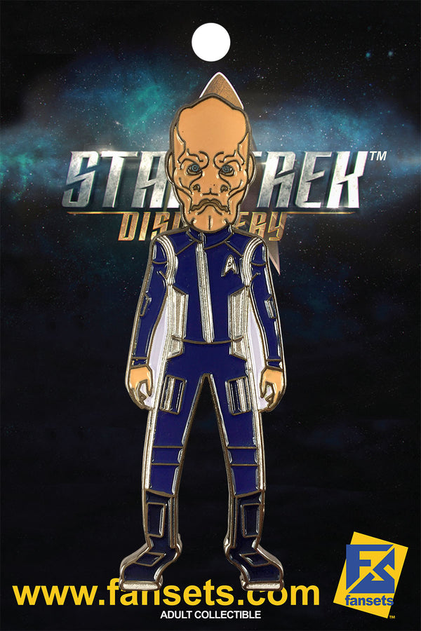Star Trek Discovery SARU SILVER  Licensed FanSets MicroCrew Collector's Pin`