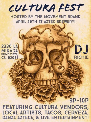 Cultura Fest Flyer at Aztec Brewery