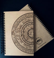 Load image into Gallery viewer, Aztec Calendar Wooden Notebooks