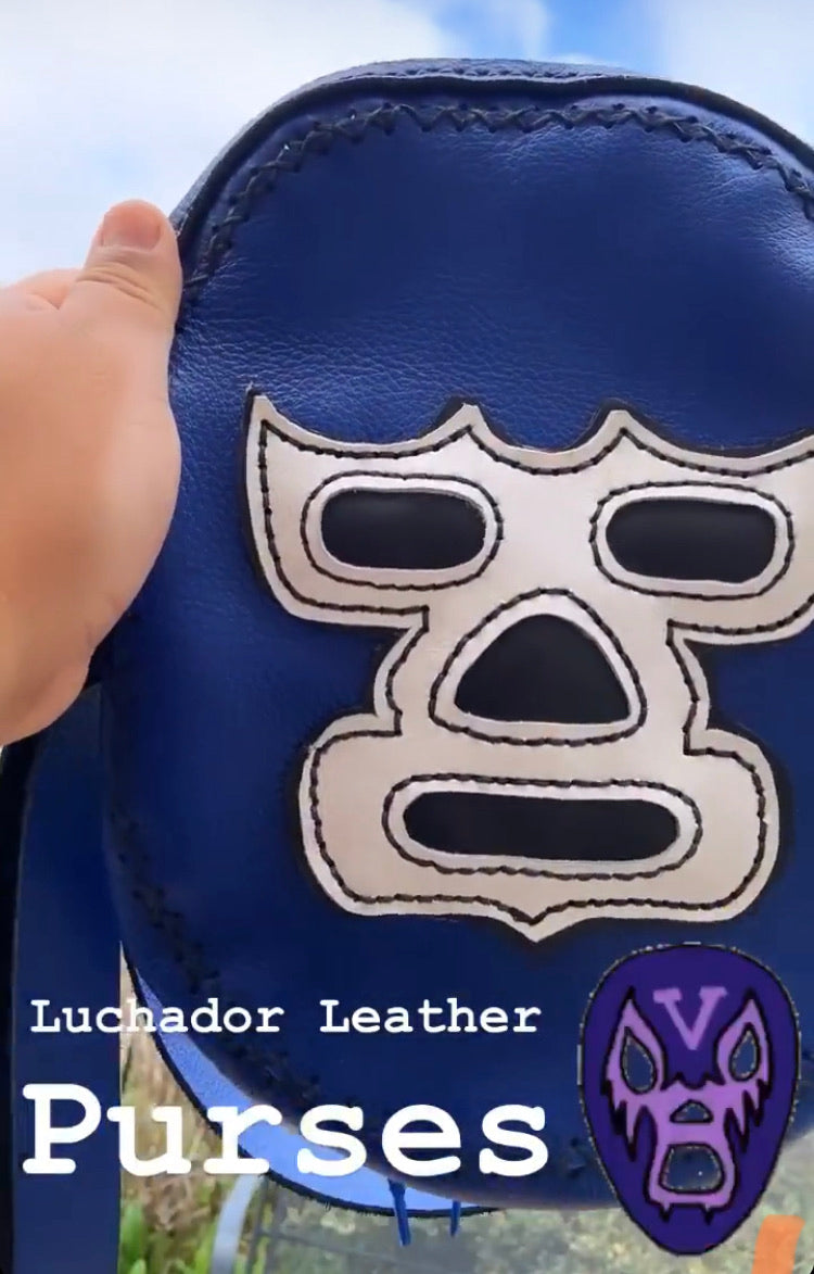 Blue Demon Luchador Purse