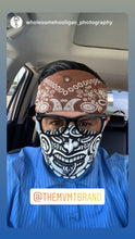 Load image into Gallery viewer, Aztec Face Mask: TEXT TO ORDER 760-705-4891