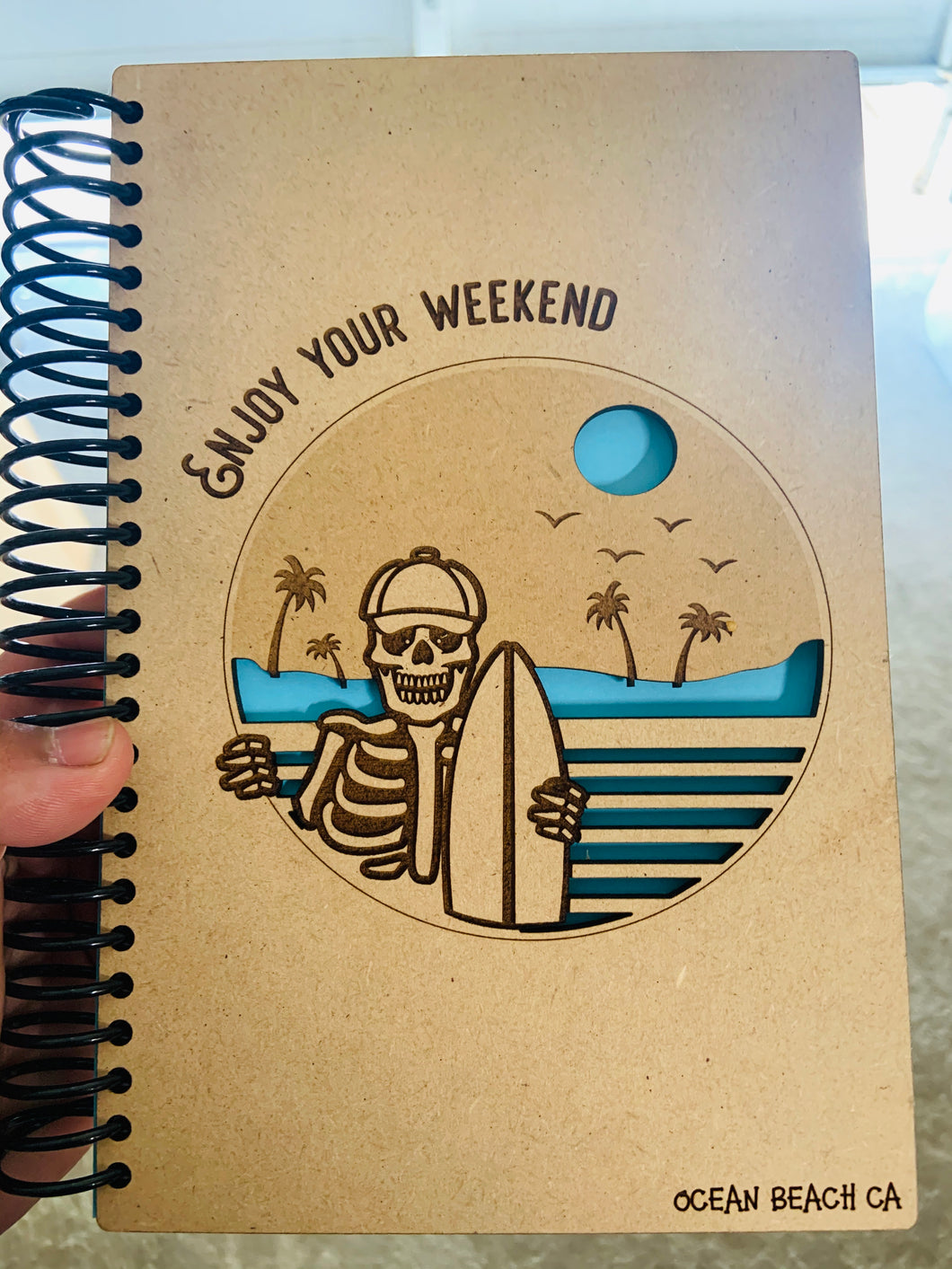 Surfing Calaca Notebook