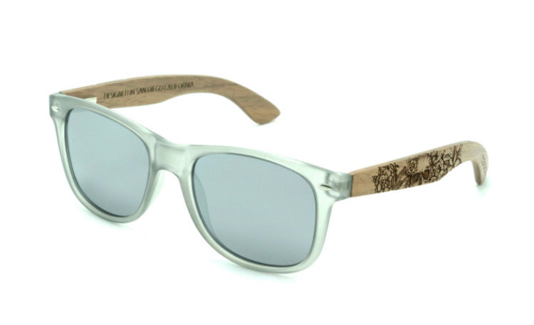 La Catrina Frosted Gray Frames (Rosewood)