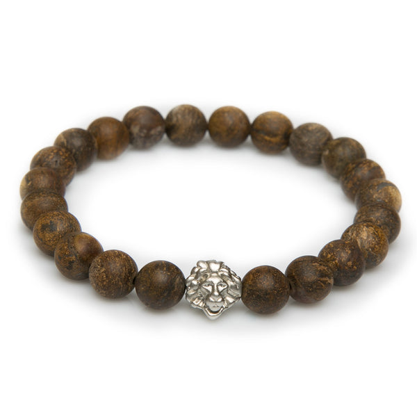 Brown Jasper Leo - Sterling Silver