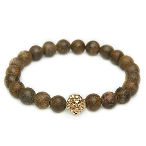Brown Jasper Leo - Gold