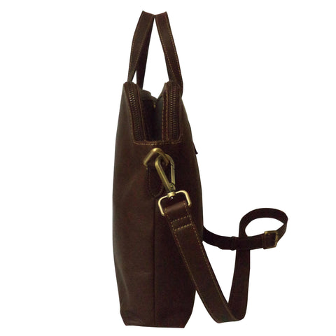 River Genuine Leather Waxy Unisex Brown Laptop Bag