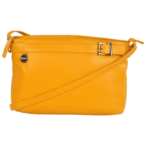 Chelsea Genuine Leather Women Mustard Crossbody Bag
