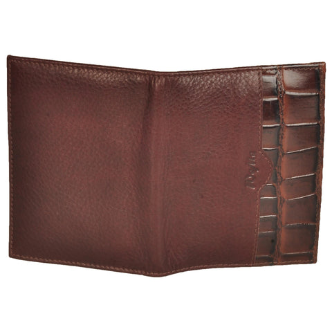 Zen Genuine Leather Unisex Brown Croco Card Holder