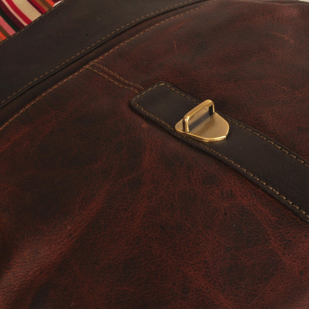 Bradley Genuine Leather Men Tan Brown Oily Messenger Bag