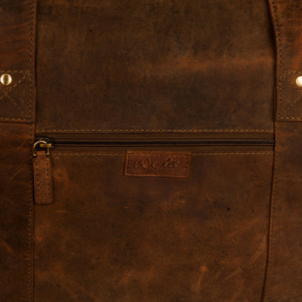 Yorker Genuine Leather Men Brown Oily Duffel Bag