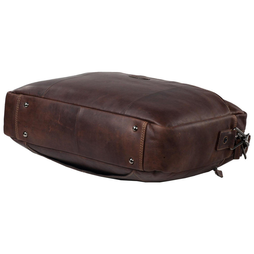 Manhattan Genuine Leather Men Brown Portfolio Bag