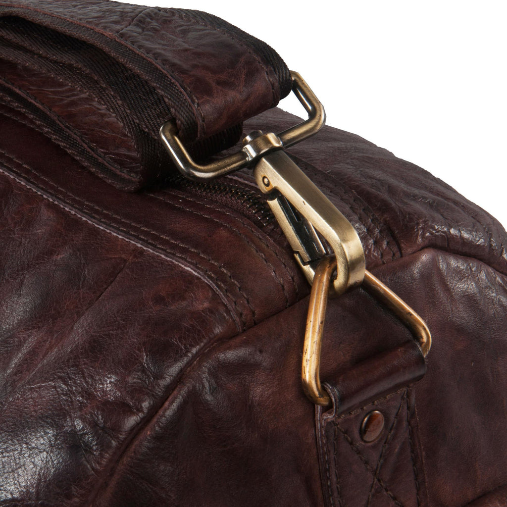 Yorker Genuine Leather Men Brown Duffel Bag