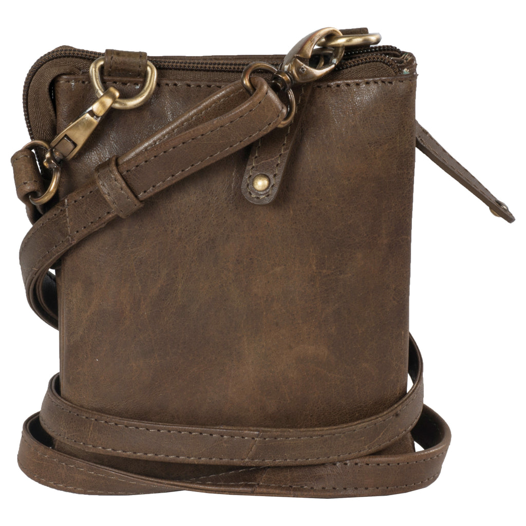 Chelsea Genuine Leather Women Brown Crossbody Bag