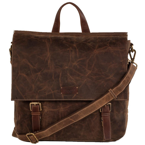 Bradley Genuine Leather Men Brown Messenger Bag